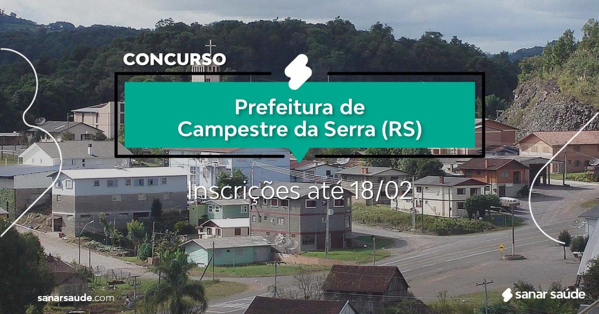 Concurso de Campestre da Serra - RS:  vagas imediatas na Saúde!