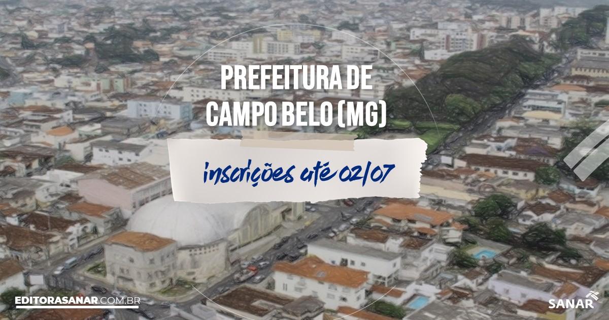 Concurso de Campo Belo - MG: salários de até R$8,8 mil na Saúde!