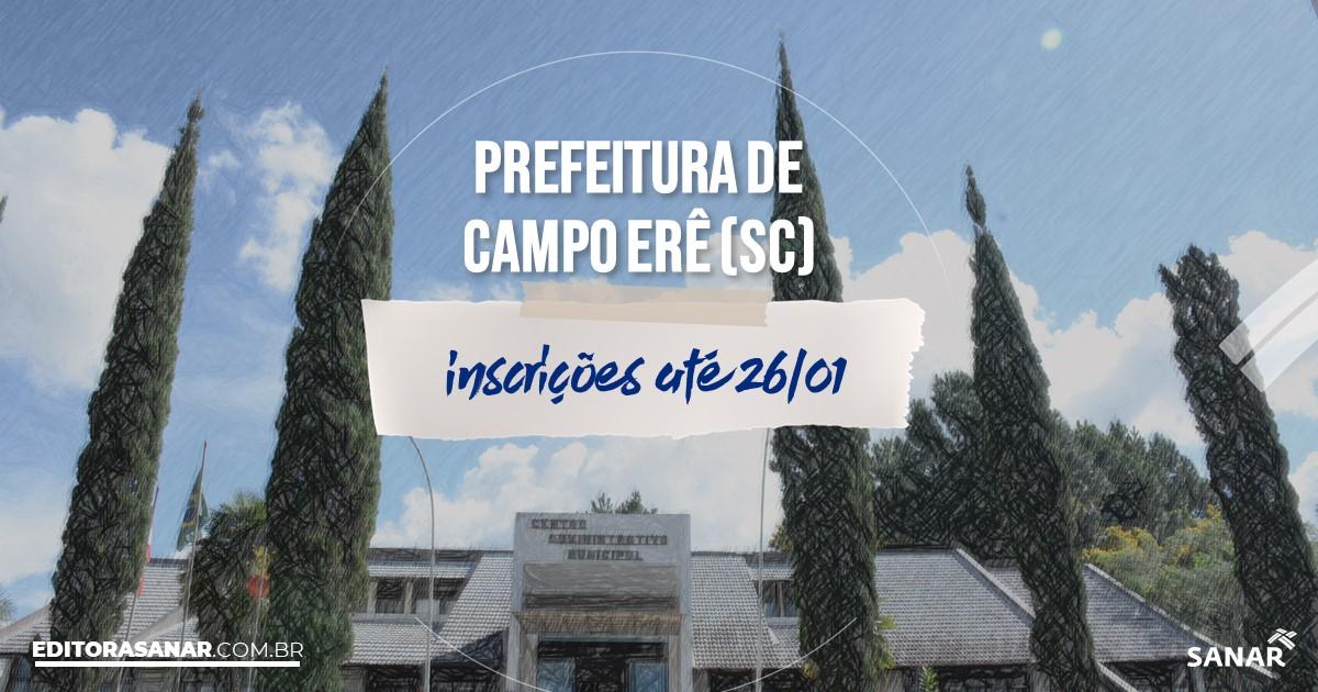 Concurso de Campo Erê - SC: vagas na Saúde!
