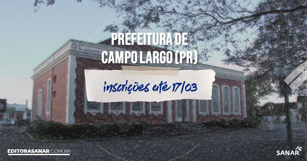 Concurso de Campo Largo - PR: salários de até R$8,6 mil na Saúde!