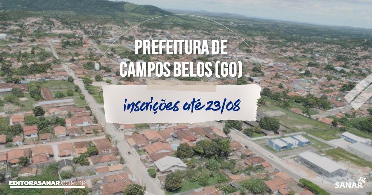 Concurso de Campos Belos - GO: vagas na Saúde!