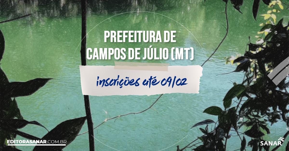 Concurso de Campos de Júlio - MT: salários de até R$14 mil na Saúde!