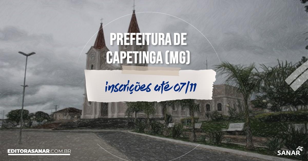 Concurso de Capetinga - MG: vagas na Saúde!