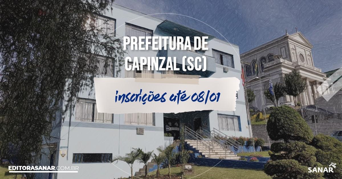 Concurso de Capinzal - SC: salários de até R$16 mil na Saúde!