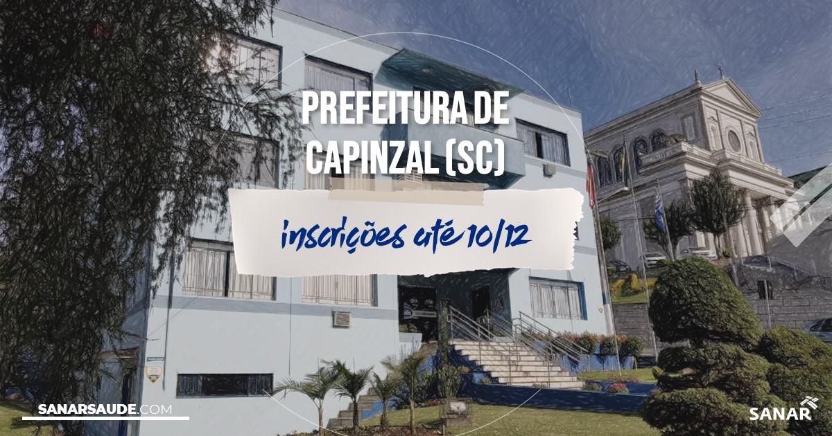 Concurso de Capinzal - SC: salários de até R$17,4 mil na Saúde!