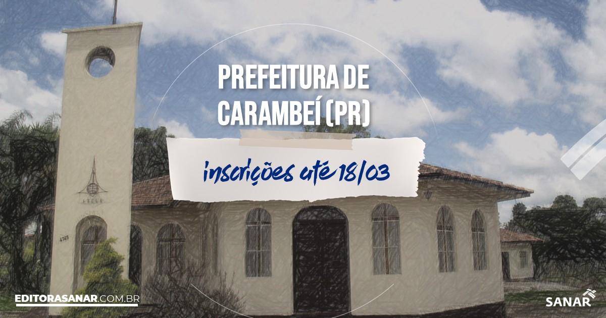 Concurso de Carambeí - PR: vagas na Saúde para psicólogos!
