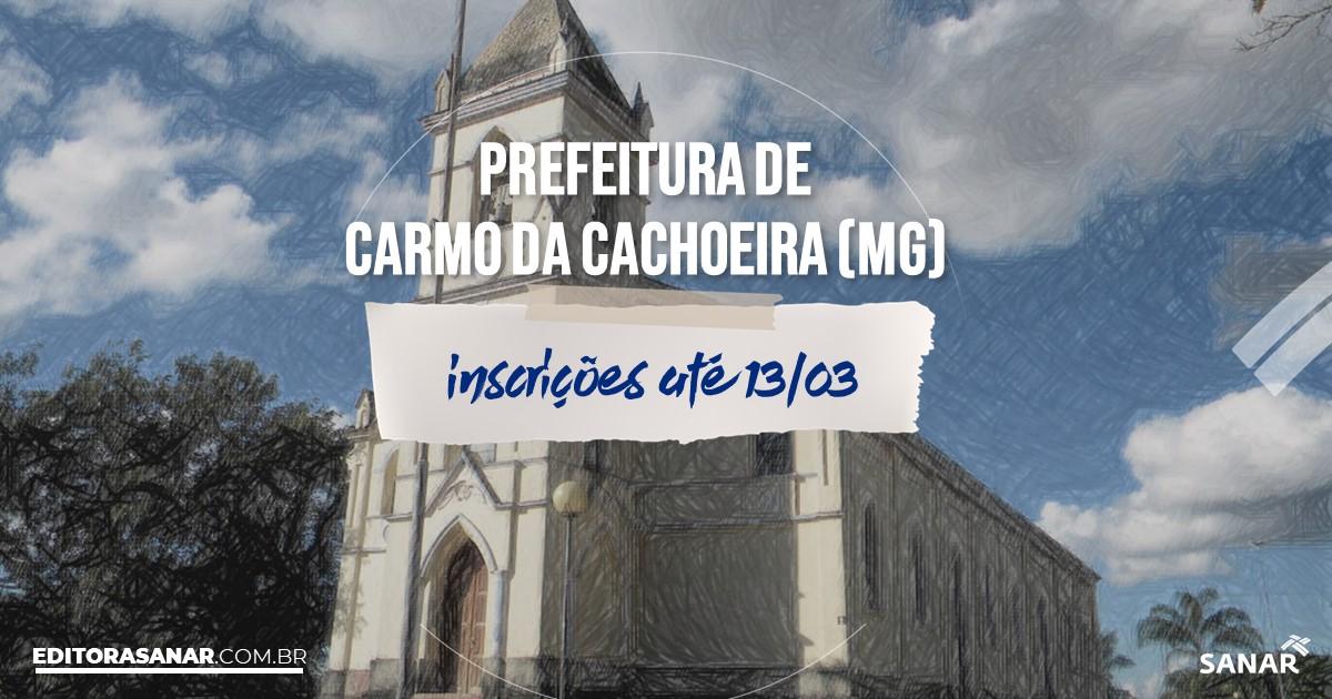 Concurso de Carmo da Cachoeira - MG: na Saúde, vaga para farmacêutico!