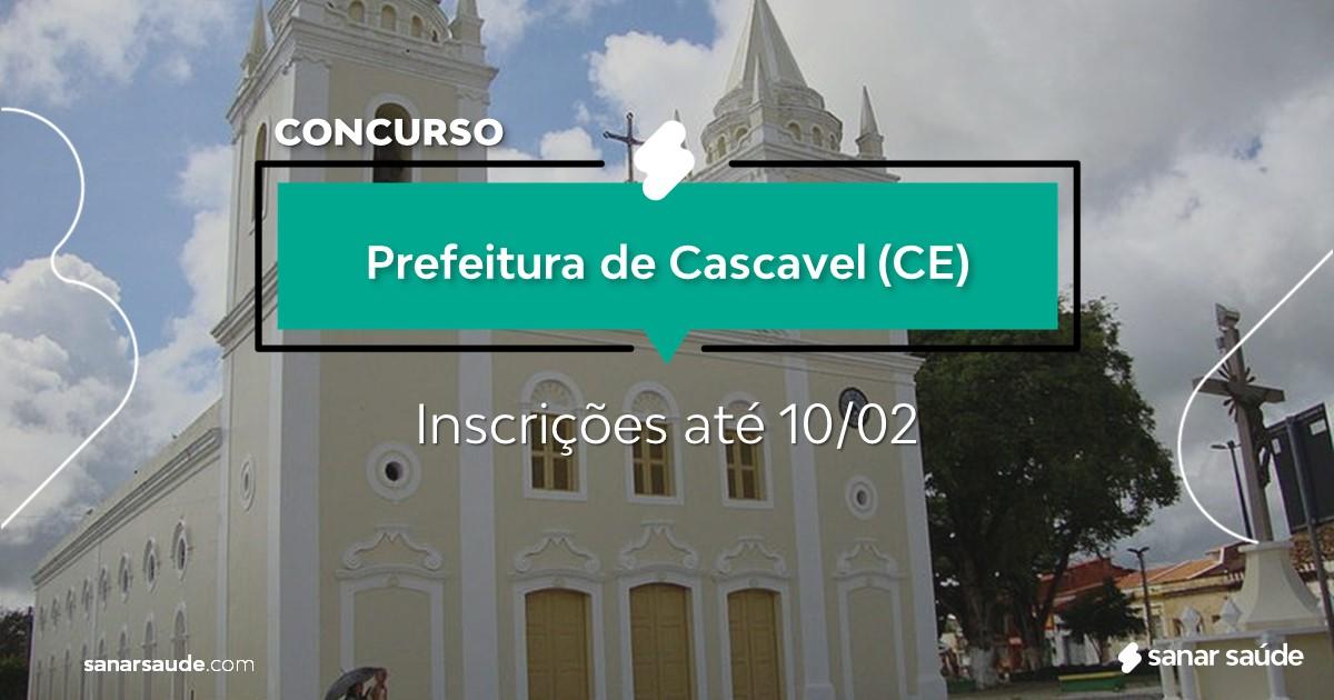 Concurso de Cascavel - CE:  salários de até R$10 mil na Saúde!