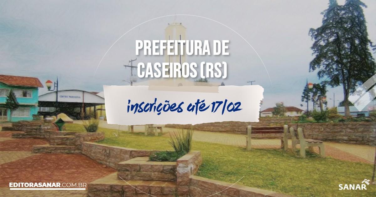 Concurso de Caseiros - RS: cargos na Saúde!