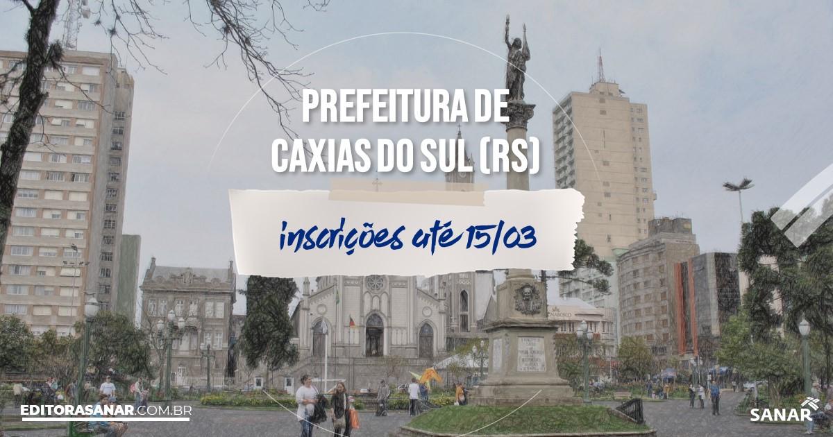 Concurso de Caxias do Sul - RS: na Saúde, salários até R$7,5 mil!