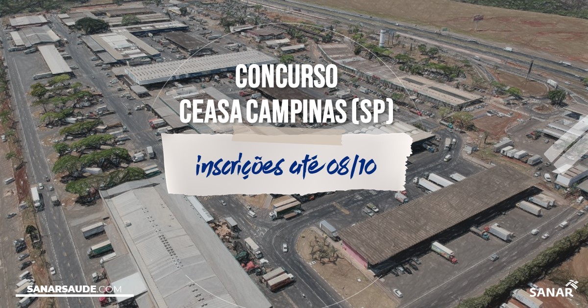 Concurso da CEASA Campinas - SP: vaga na Saúde para nutricionista!