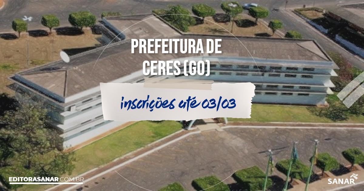 Concurso de Ceres - GO: salários de até R$10 mil na Saúde!