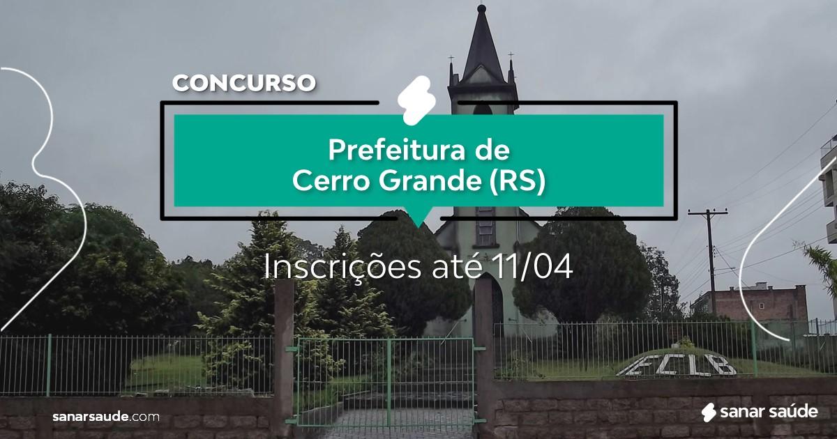 Concurso de Cerro Grande - RS: vagas imediatas na Saúde!