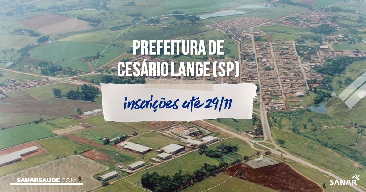 Concurso de Cesário Lange - SP: vagas na Saúde!