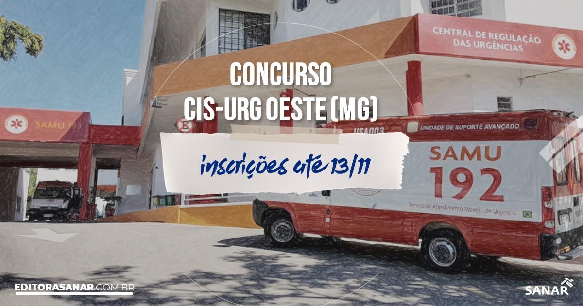 Concurso do CIS-URG Oeste - MG: salários na Saúde até R$7,8 mil!