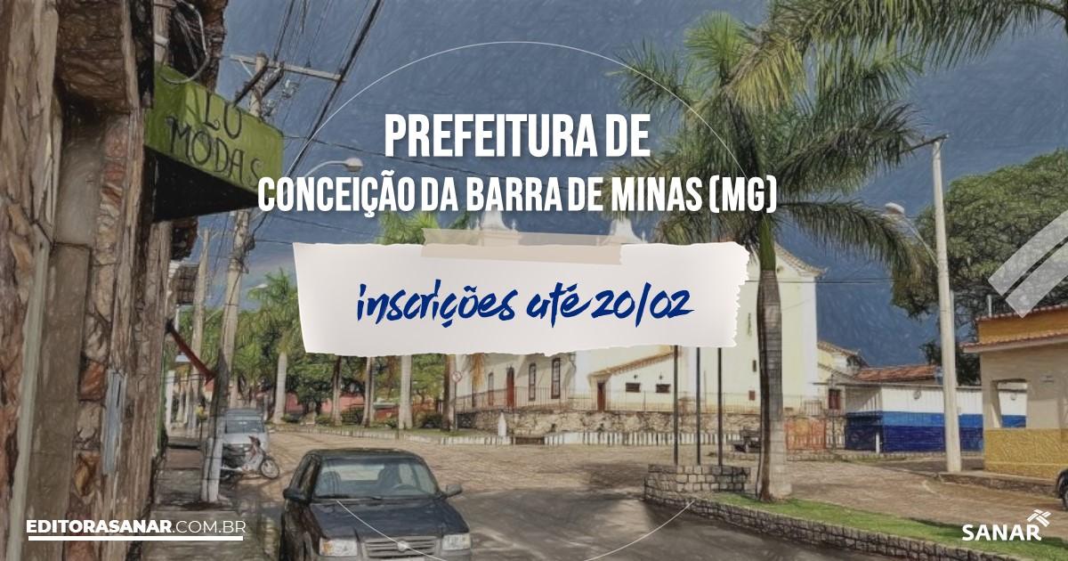 Concurso de Conceição da Barra de Minas - MG: vaga na Saúde!