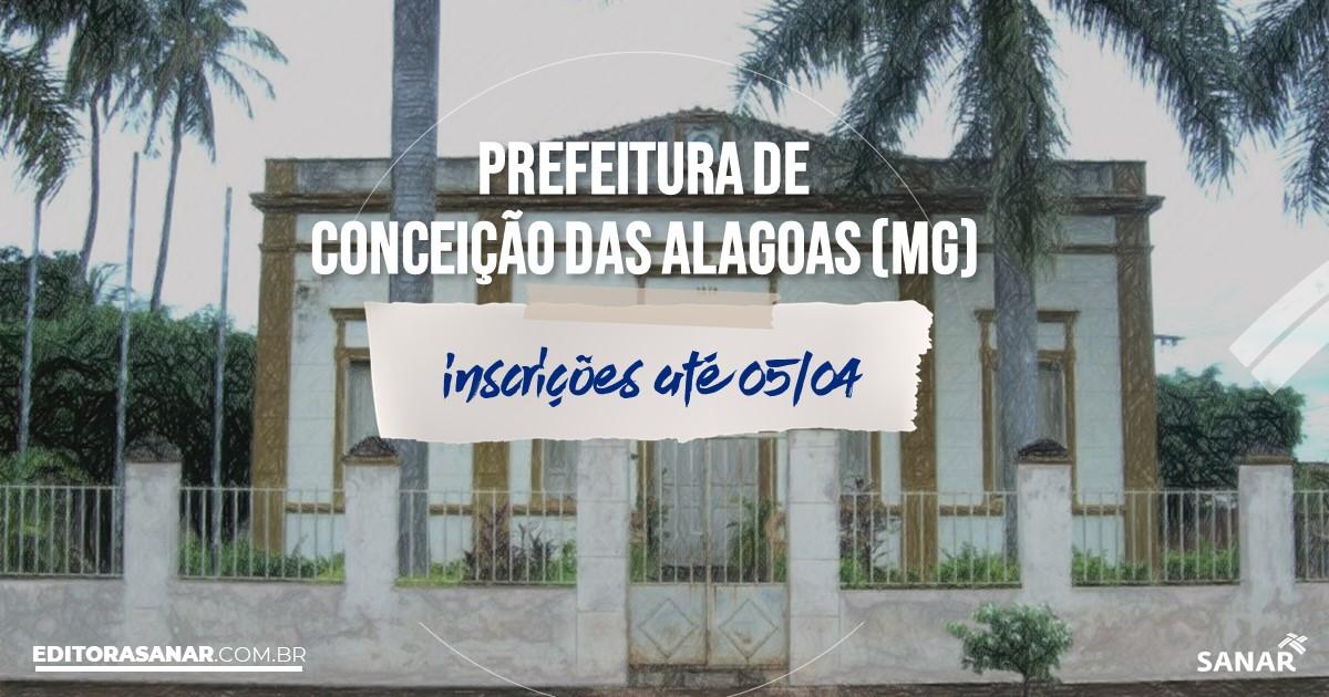 Concurso de Conceição das Alagoas - MG: vagas na Saúde!