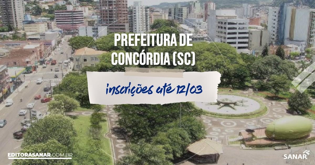 Concurso de Concórdia - SC: vagas na Saúde!