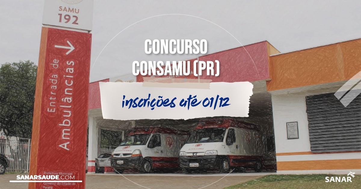 Concurso do CONSAMU - PR: na Saúde, salários de até R$9,6 mil!
