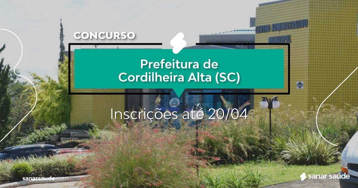 Concurso de Cordilheira Alta - SC: salários de até R$18 mil na Saúde!
