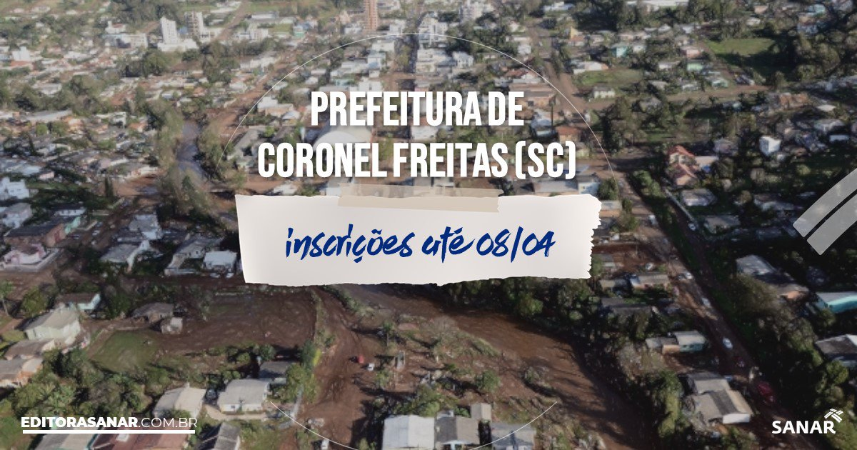 Coronel Freitas Santa Catarina fonte: s3.sanar.online