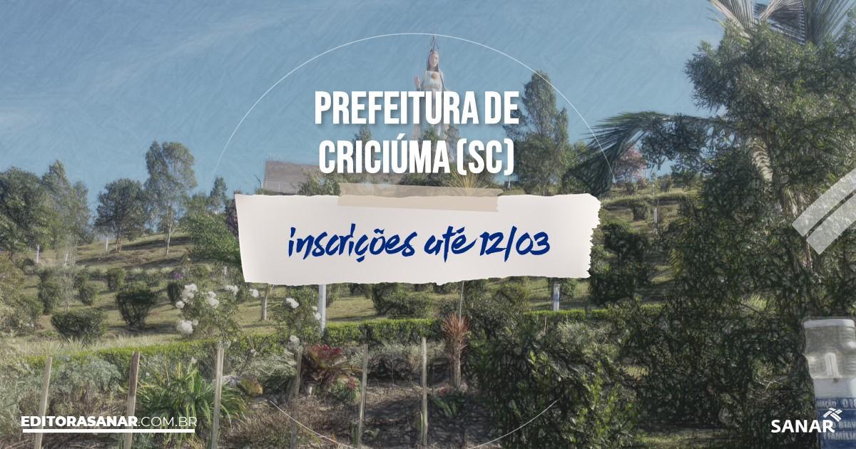 Concurso de Criciúma - SC: vagas na Saúde para psicólogos!