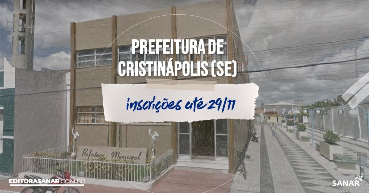 Concurso de Cristinápolis - SE: salários até R$8 mil na Saúde!