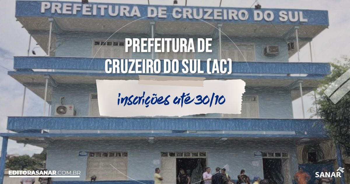 Concurso de Cruzeiro do Sul - AC: salários até R$10 mil na Saúde!