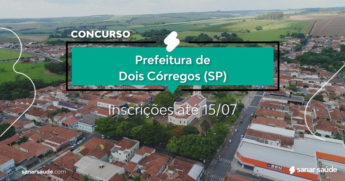 Concurso de Dois Córregos - SP: salários até R$11 mil na Saúde!