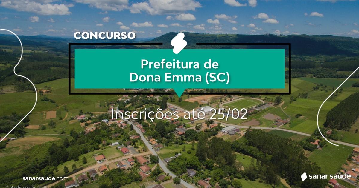 Concurso de Dona Emma - SC: vagas na Saúde para veterinários!