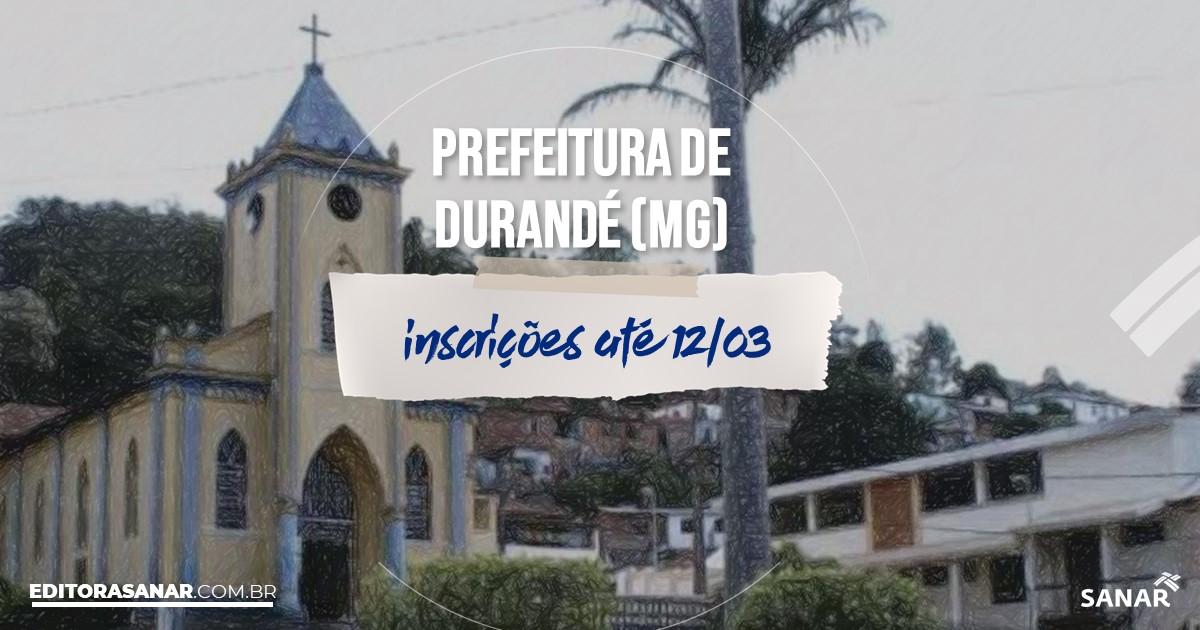 Concurso de Durandé - MG: vagas na Saúde!