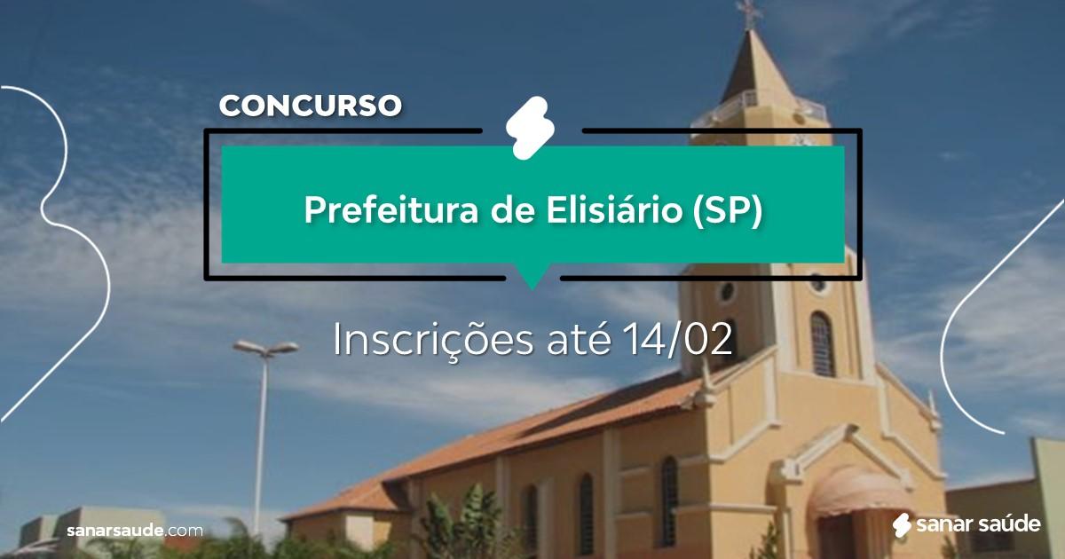 Concurso de Elisário - SP: vagas imediatas na Saúde!