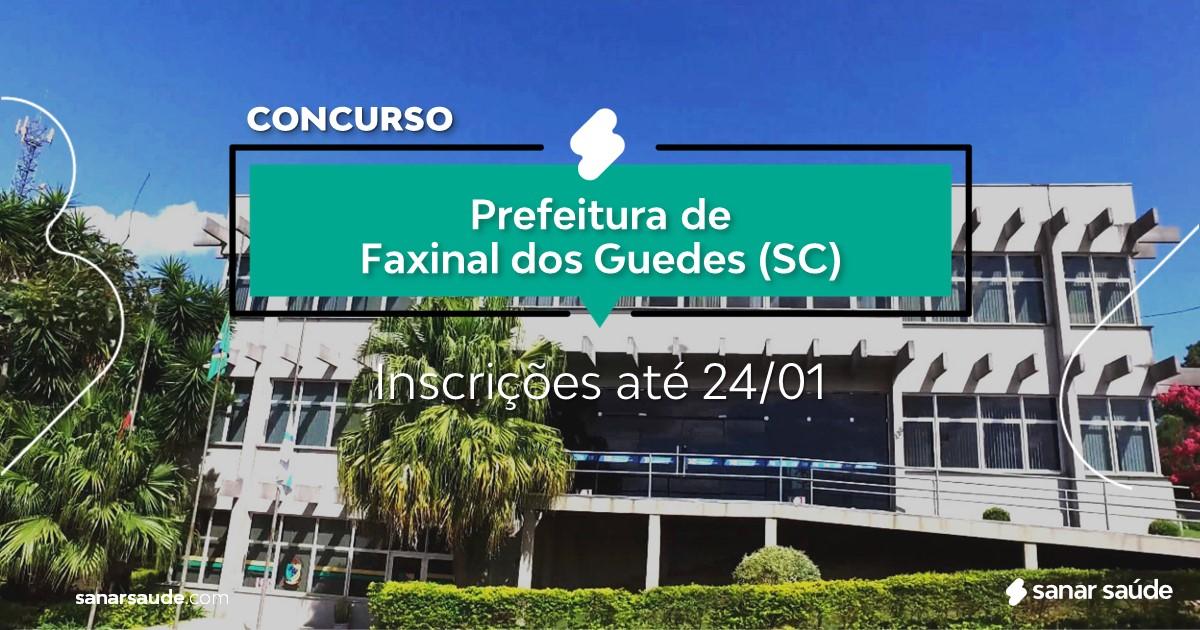 Concurso de Faxinal dos Guedes - SC: salários de até R$17 mil na Saúde!