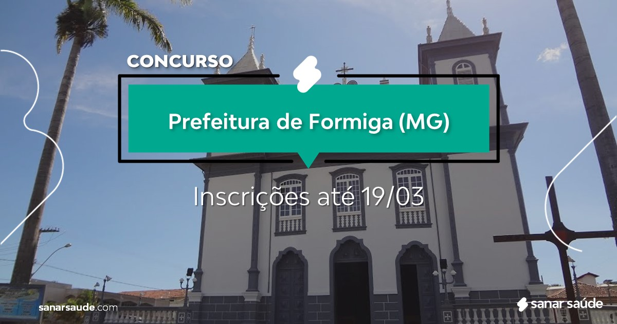 Concurso de Formiga - MG: na Saúde, vagas para fisioterapeutas!
