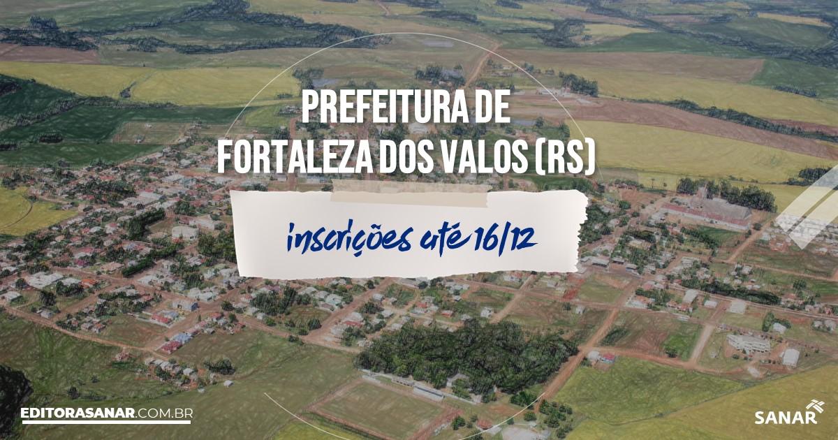 Concurso de Fortaleza dos Valos - RS: salários na Saúde até R$8 mil!