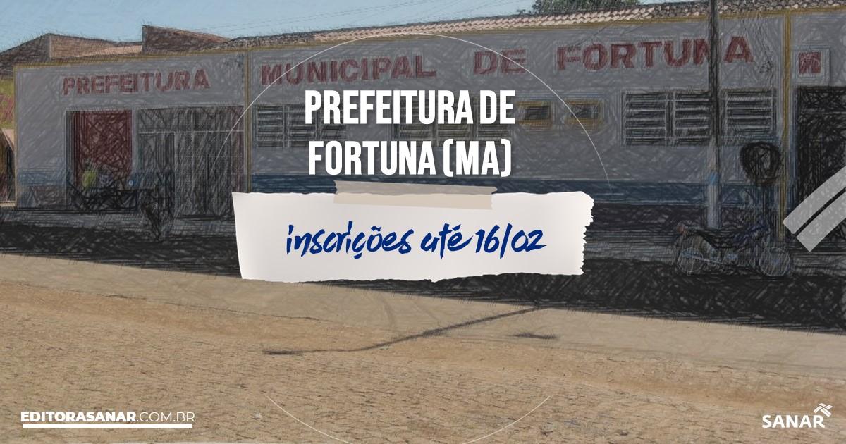Concurso de Fortuna - MA: cargos na Saúde!