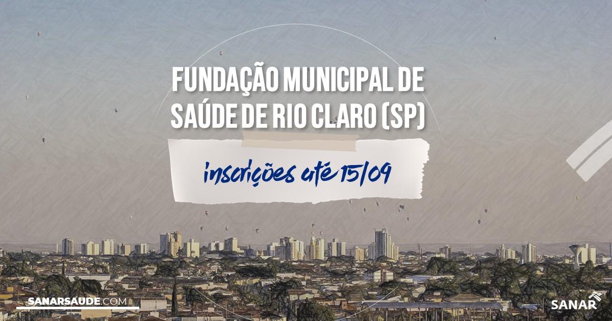 Concurso de Rio Claro - SP: salários de até R$10,6 mil na Saúde!