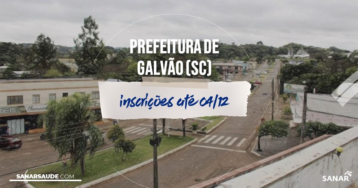 Concurso de Galvão - SC: salários de até R$12,3 mil na Saúde!