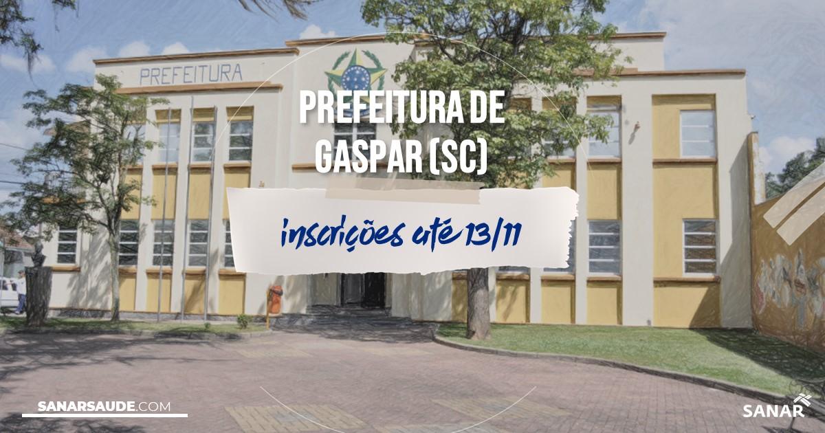 Concurso de Gaspar - SC: salários na Saúde de até R$15,8mil!