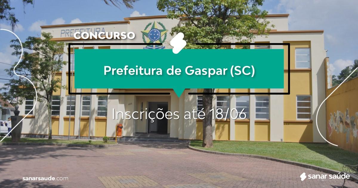 Concurso de Gaspar - SC: salários até R$15 mil na Saúde!
