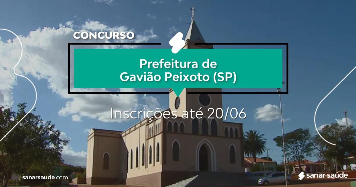 Concurso de Gavião Peixoto - SP: vagas imediatas na Saúde!