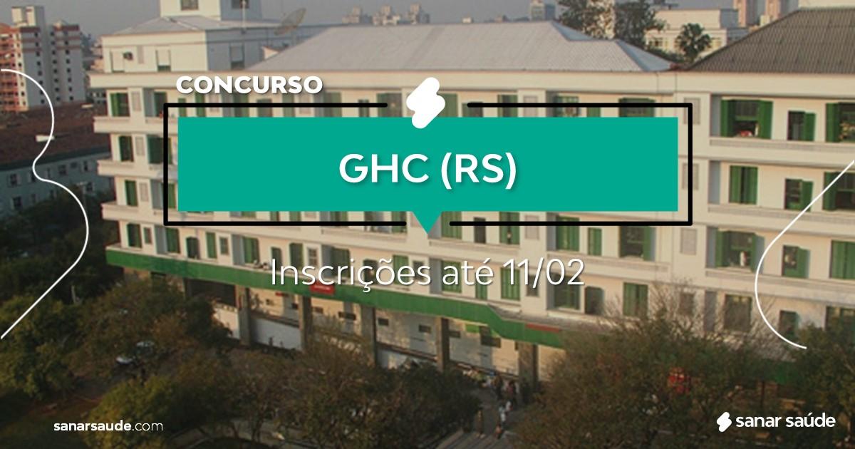 Concurso do GHC - RS:  salários de até R$21 mil na Saúde!