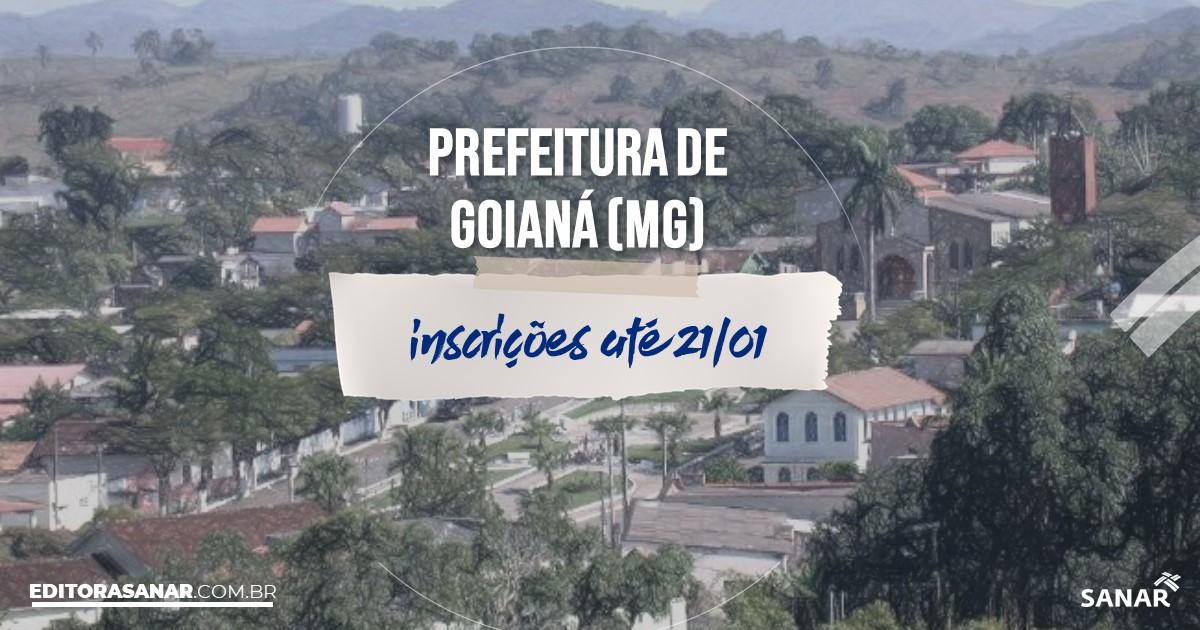 Concurso de Goianá - MG: vagas na Saúde!