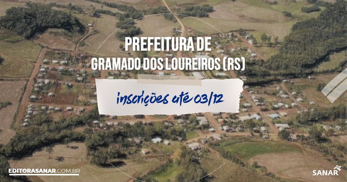Concurso de Gramado dos Loureiros - RS: cargos na Saúde!