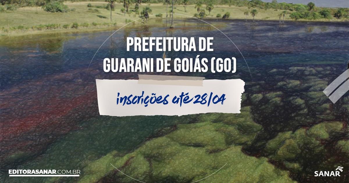 Concurso de Guarani de Goiás - GO: vagas na Saúde!