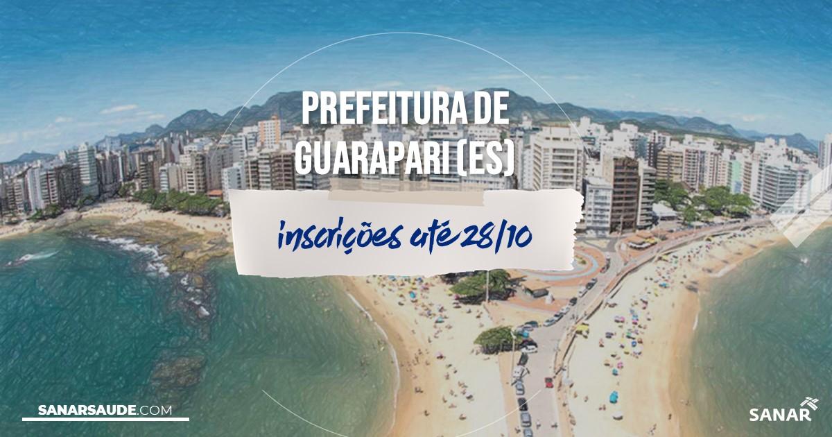 Concurso de Guarapari - ES: na Saúde, salários de até R$6,1 mil!