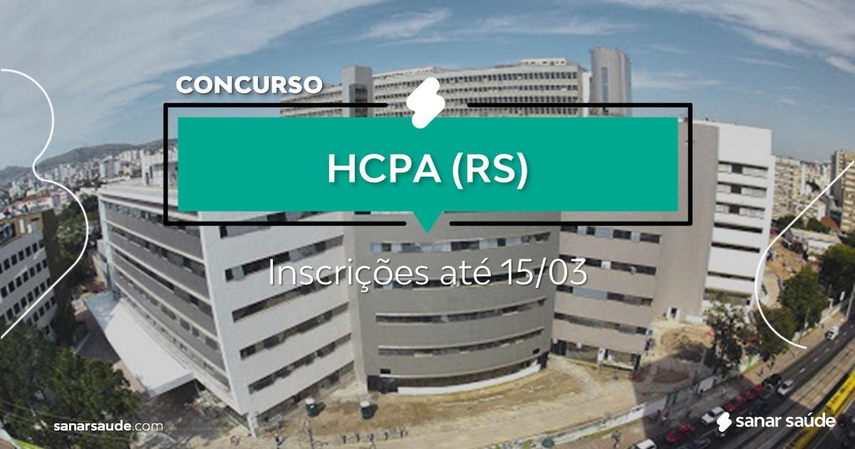 Concurso do HCPA - RS: cargos na Saúde!