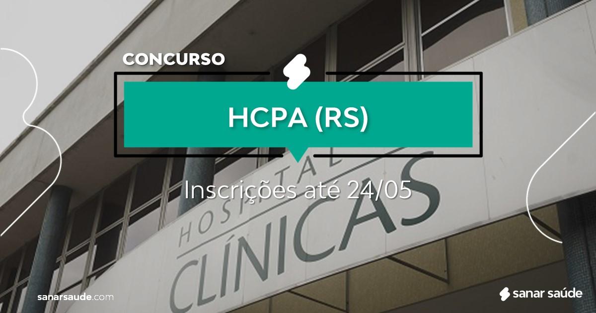 Concurso do HCPA - RS:  salários até R$9 mil na Saúde!