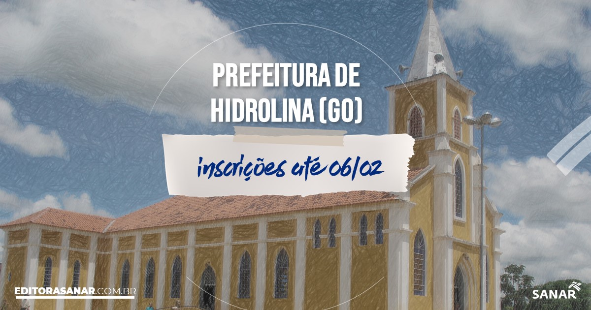 Concurso de Hidrolina - GO: cargos na Saúde!