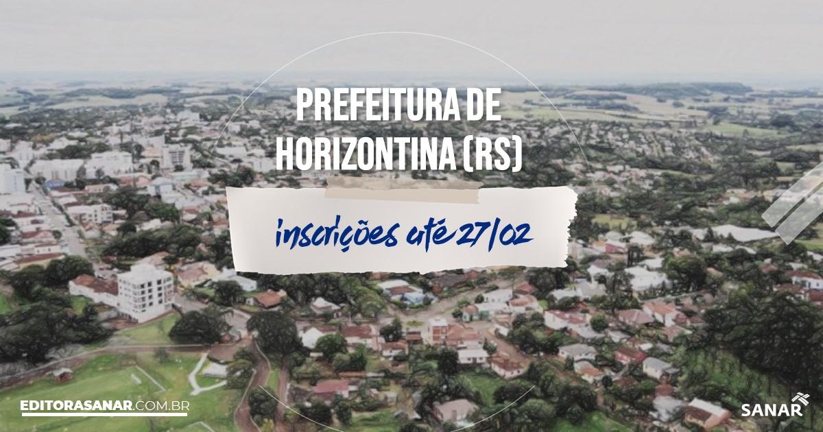 Concurso de Horizontina - RS: vagas na Saúde!